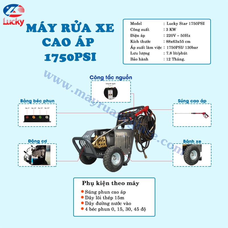 máy rửa xe Lutian 1750PSI