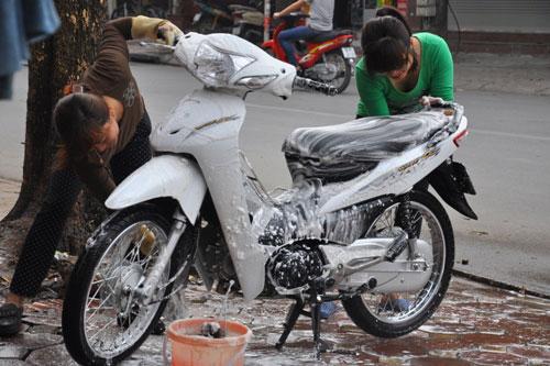 mặt bằng tiệm rửa xe