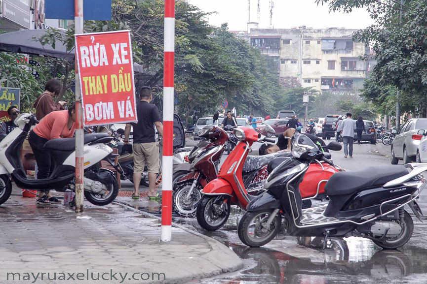 kinh doanh tiệm rửa xe máy