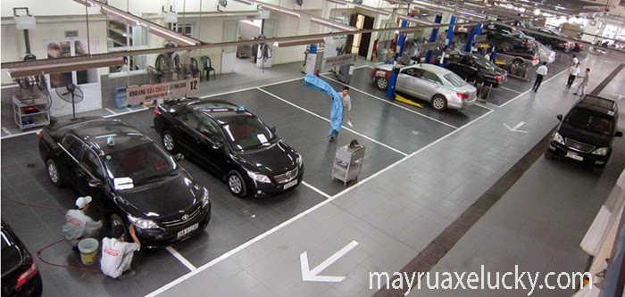 mở gara ô tô cần bao nhiêu tiền